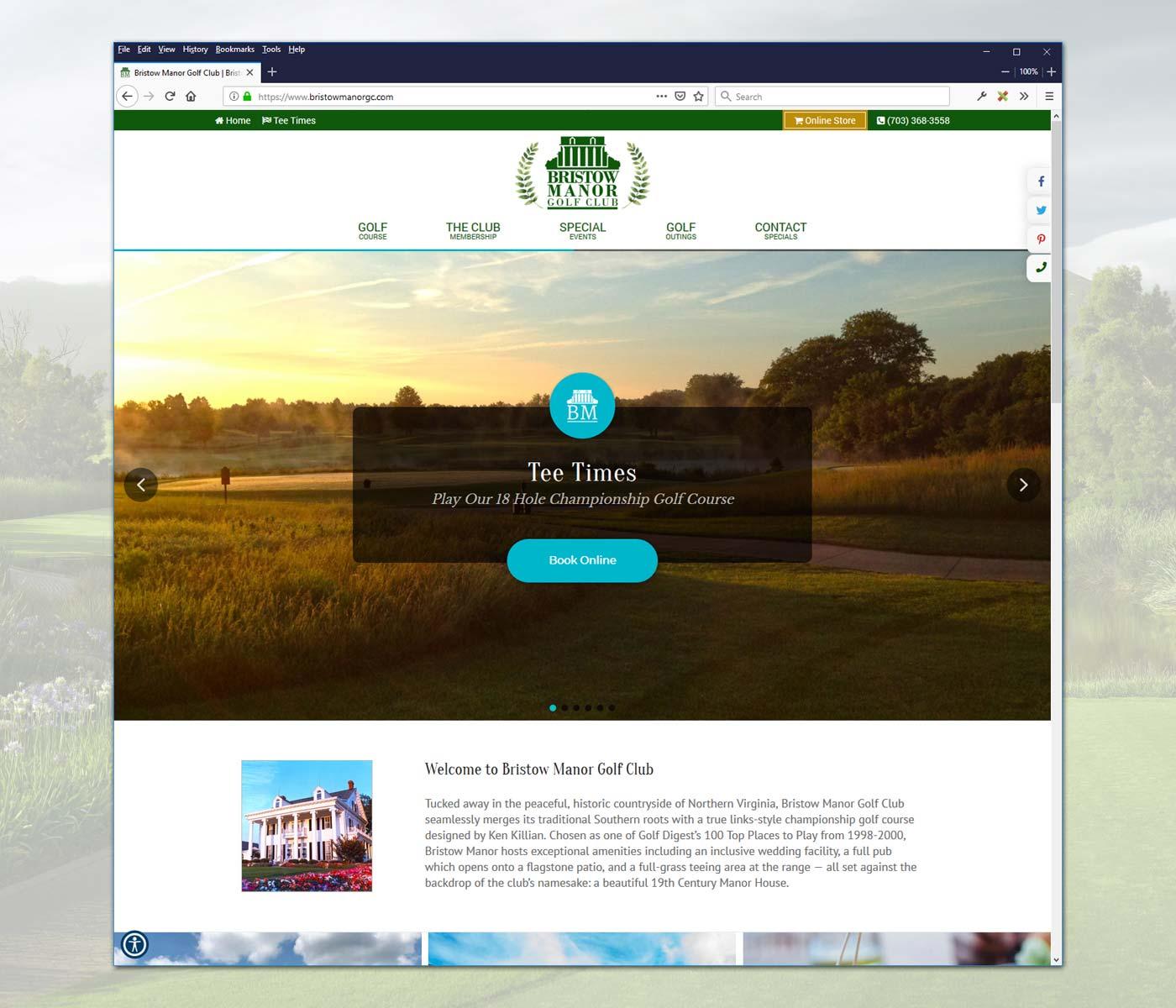 Golf Course Website Design by RWM - Website